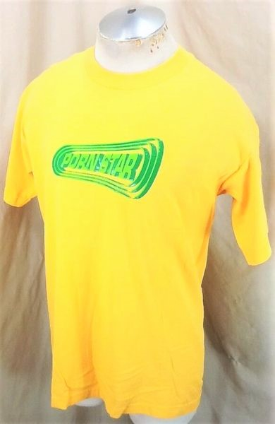 Vintage 90's Porn Star Clothing Brand (Large) Classic Skateboard Graphic T-Shirt (Side)