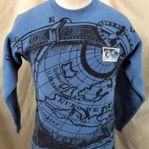 Vintage 90's Richard Byrd American Aviator (Small) All Over Graphic Crew Neck Sweatshirt (Front)