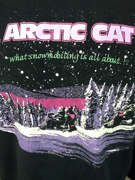 Vintage 90's Arctic Cat Apparel (Large) Crew Neck Snowmobiling Sweatshirt (Graphics)