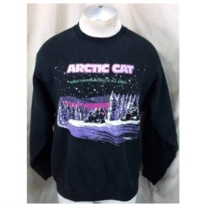 Vintage 90's Arctic Cat Apparel (Large) Crew Neck Snowmobiling Sweatshirt (Main)
