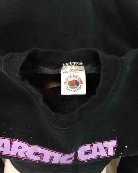 Vintage 90's Arctic Cat Apparel (Large) Crew Neck Snowmobiling Sweatshirt (Tag)