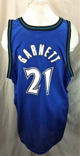 Vintage Minnesota Timberwolves (52-2XL) Kevin Garnett #21 Champion Jersey (Back)