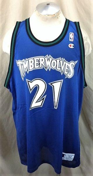 Vintage Minnesota Timberwolves (52-2XL) Kevin Garnett #21 Champion Jersey (Front)