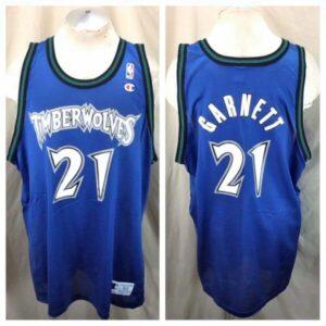Vintage Minnesota Timberwolves (52-2XL) Kevin Garnett #21 Champion Jersey (Main)