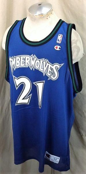 Vintage Minnesota Timberwolves (52-2XL) Kevin Garnett #21 Champion Jersey (Side)
