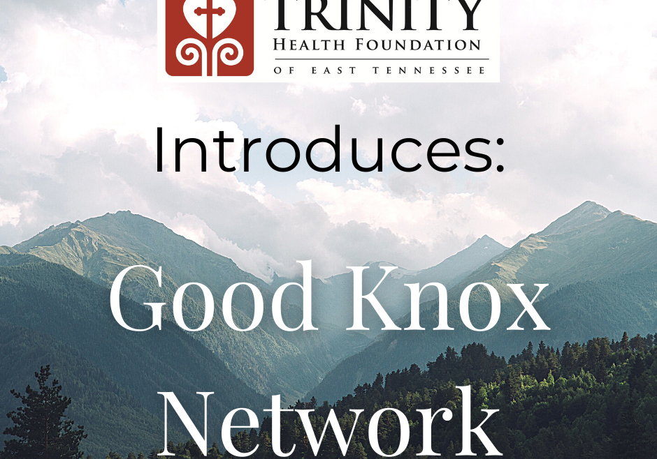 Dr. Lee Martin, President of Trinity Health Foundation of East TN, Introduces the Good Knox Network