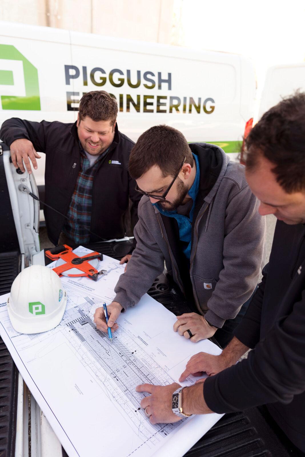 engineers looking at plans