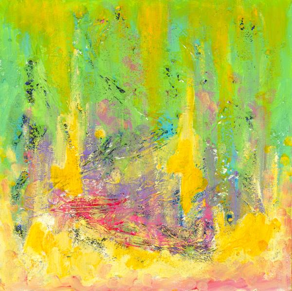 This is a painting made using mindfulness.