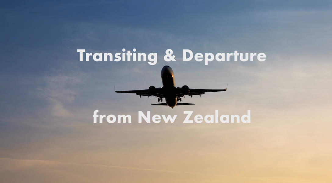 Transiting and departure NZ