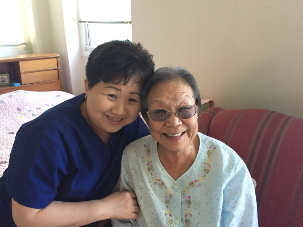 home health aide and client