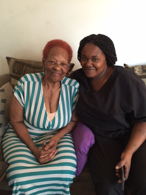 Caregiver and her client