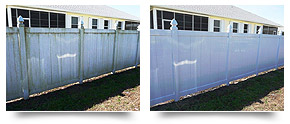 Privacy Fence pressure cleaning