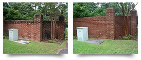 Brick Wall Pressure Cleaning