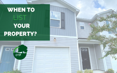 When Should Your Property Be Listed?