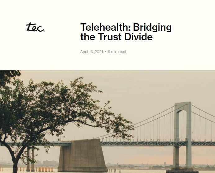 Can telehealth address gaps in trust in the healthcare system?