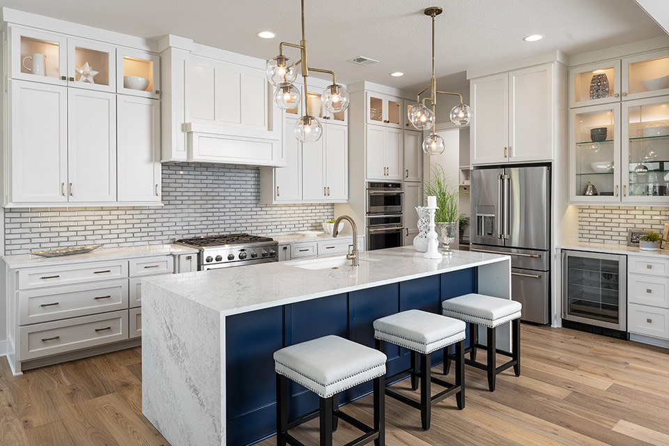 the del mar kitchen with large island