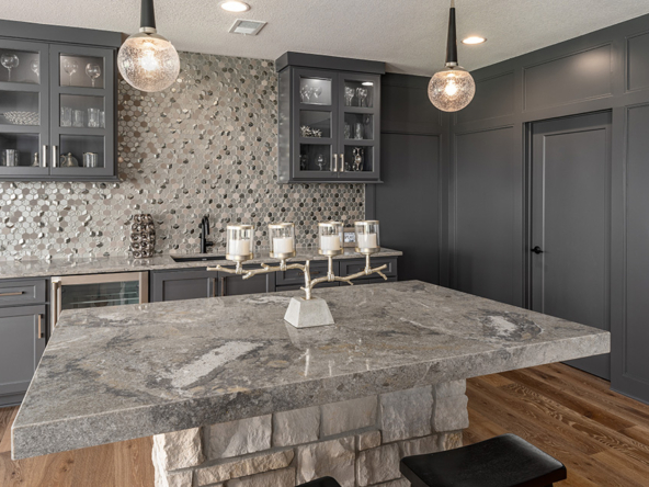 the del mar lower level kitchen