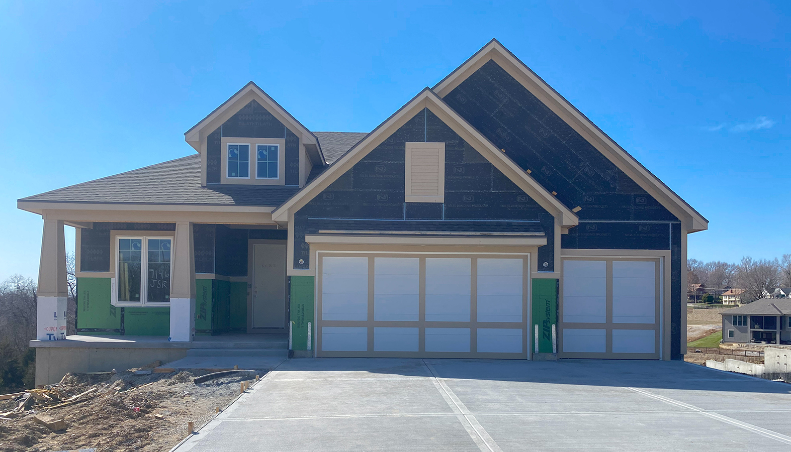 exterior view of new home build 7146 Westgate St.