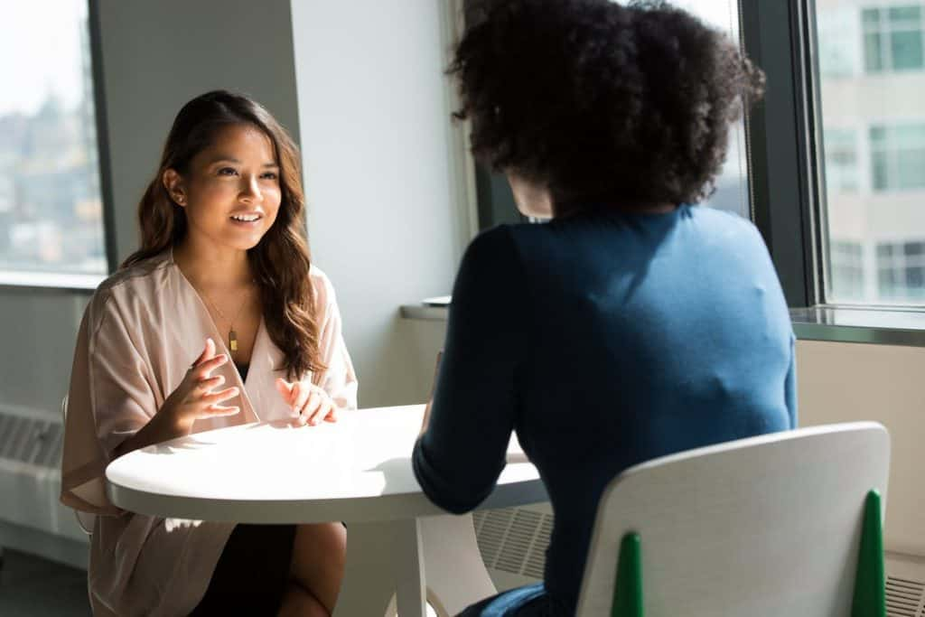 hr professionals speaking face to face