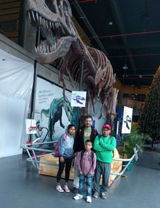 two of our students visit the science museum