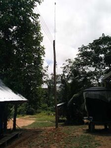 ENAM installs power lines in the village