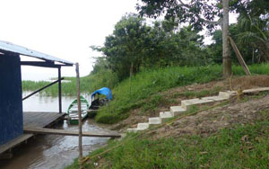 community dock and stairs