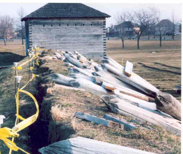 Fort Meigs under renovation.