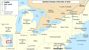 The Northern Theater of the War of 1812.