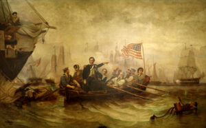 Battle of Lake Erie by William Henry Powell. Oil on canvas, 1873. Source: U.S. Senate.