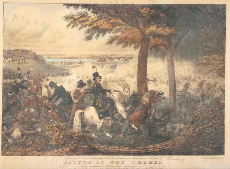 BATTLE OF THE THAMES: October 1813, by John Dorival. Copyright © RiverBrink Art Museum