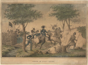 Seige [sic] of Fort Meigs by D.W. Kellogg & Co., 1845. From the Anne S. K. Brown Military Collection, Brown University, Providence, Rhode Island.