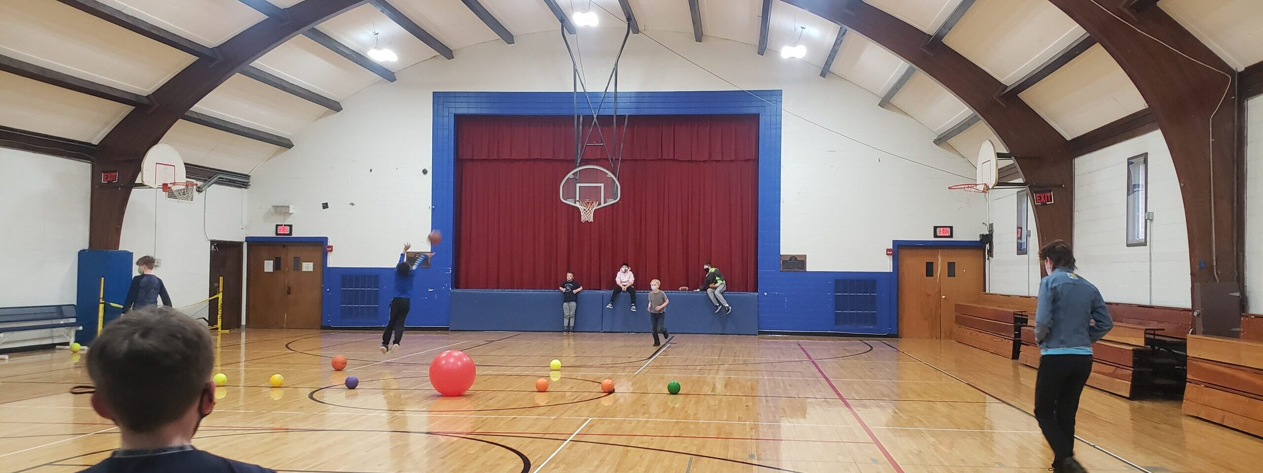 kids playing in the school gym