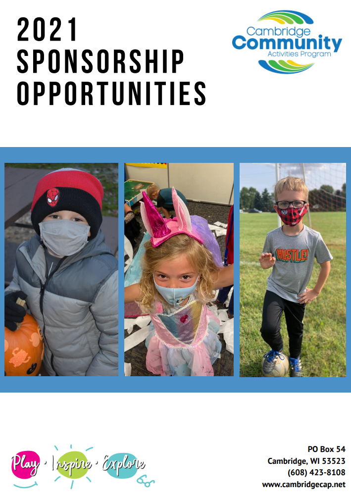 2021 sponsorship opportunities cover page