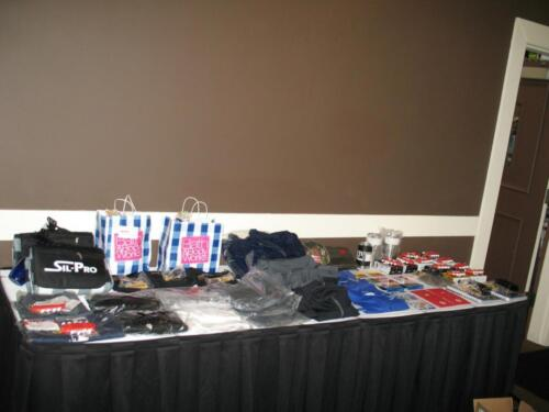 Prize Table Twin Cities Rubber Group 2017 Golf Outing