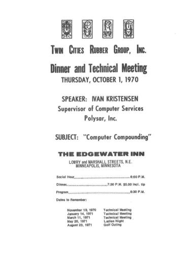 TCRG Meeting notice 1970