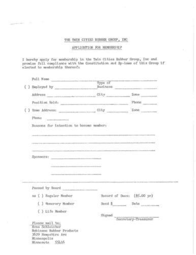 TCRG Membership application