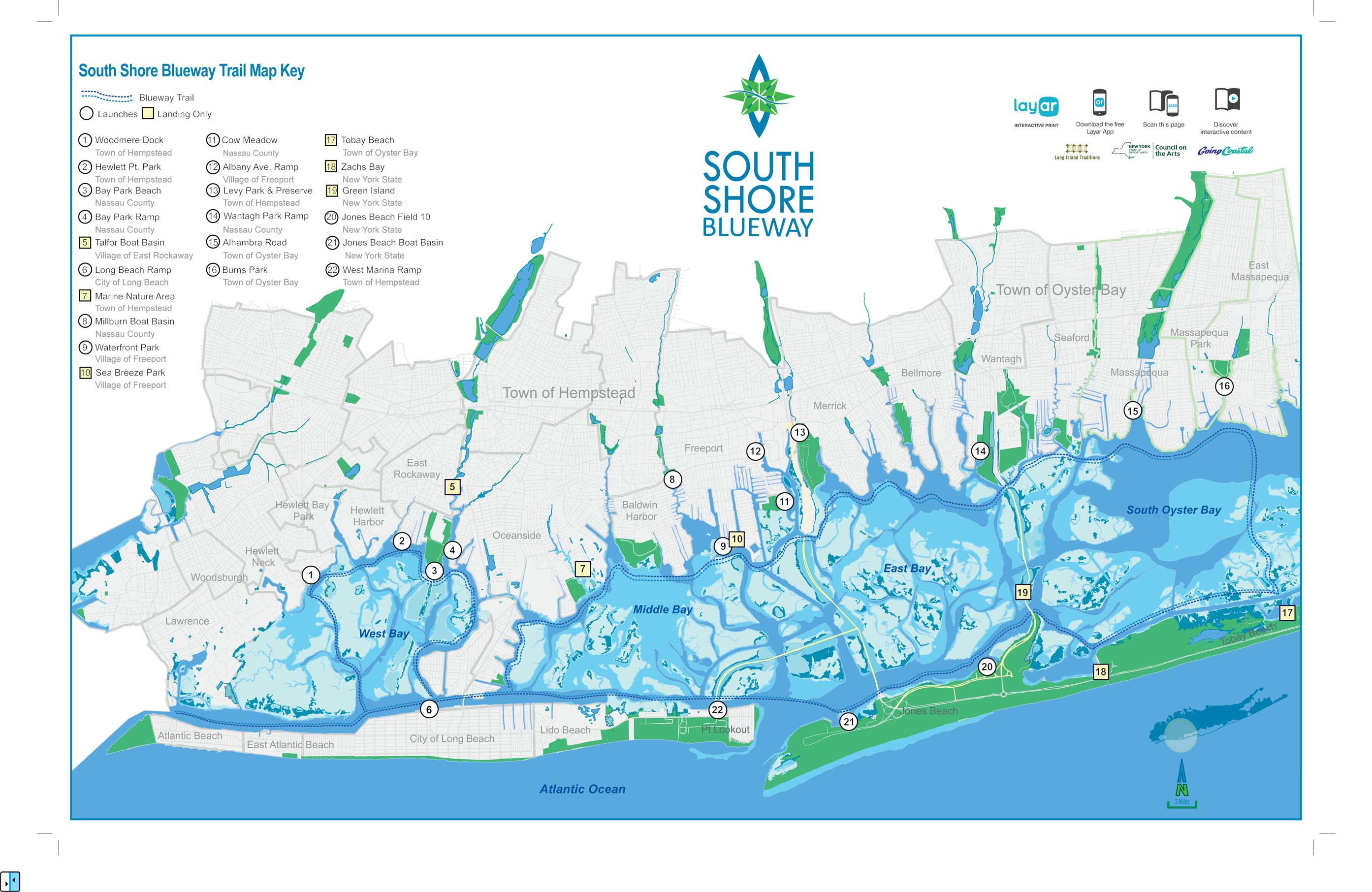 South Shore Blueway Trailhead Map