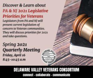 DVVC Spring 2021 Quarterly Meeting - PA & NJ Legislative Priorities for Veterans