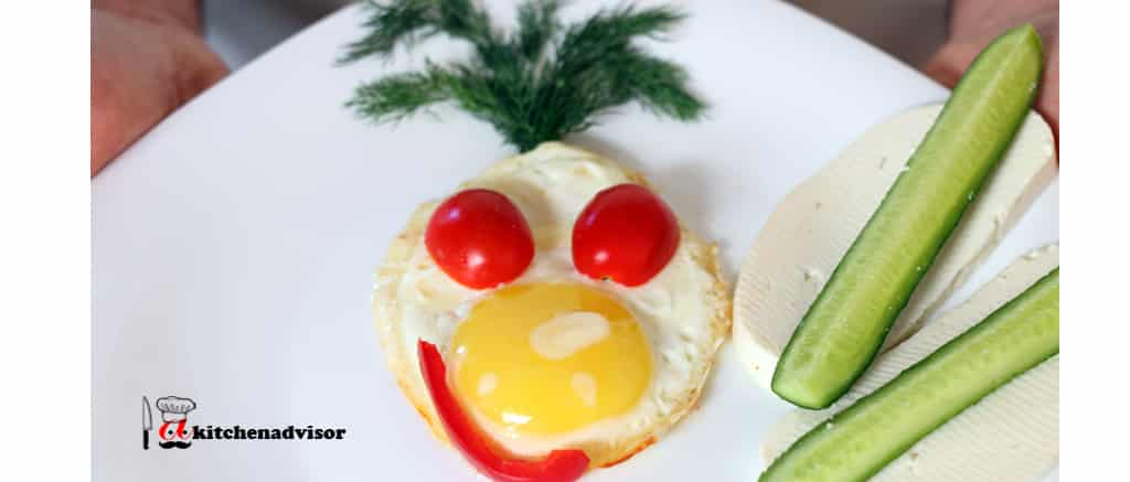 Sunny-Side up Egg with Cheese and Tomato