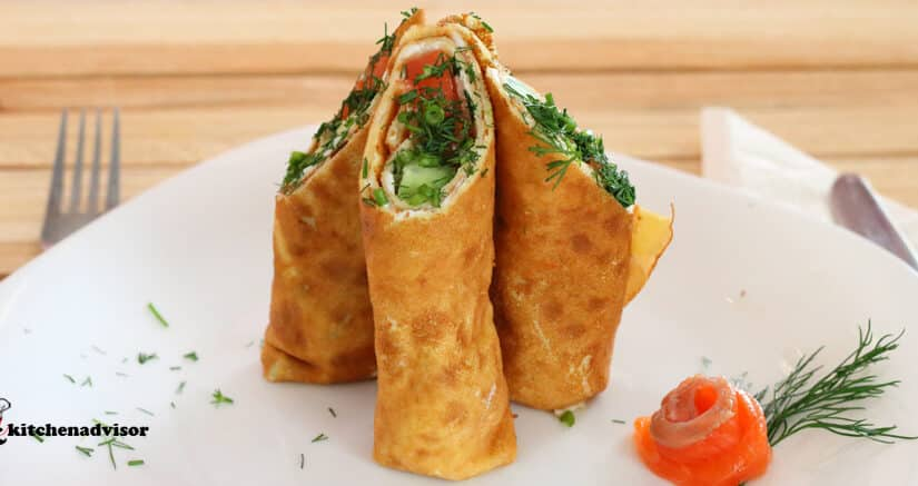 Crepes with Salmon filling