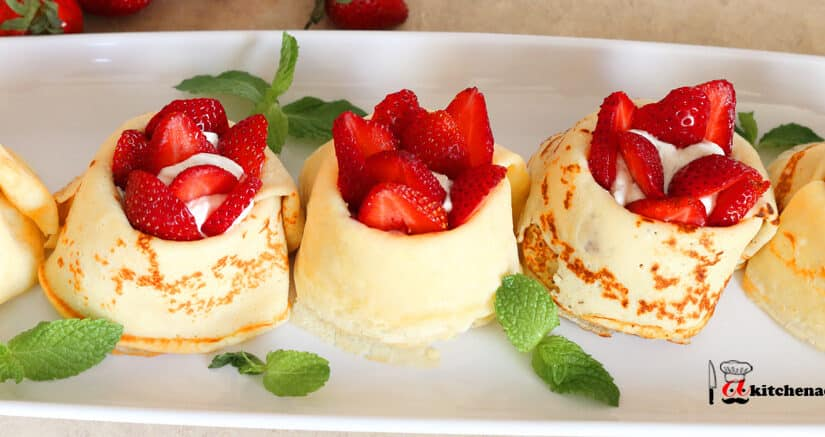 Strawberry Crepes with Whipped Cream