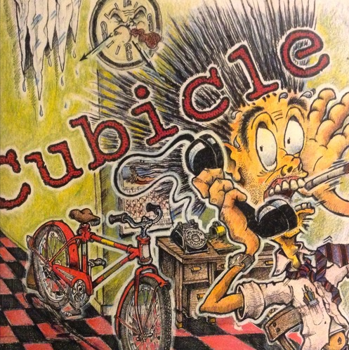 CD single artwork for Jason Didner's Cubicle by Russ Mowry, Brushfire Designs