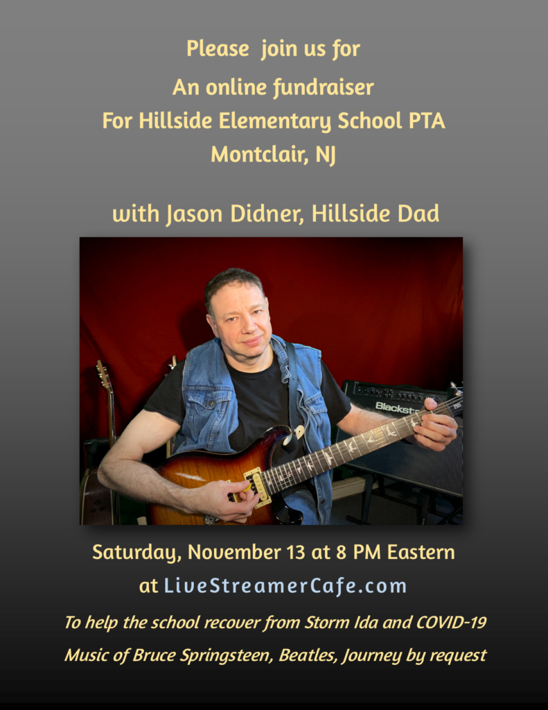 Hillside Elementary School Montclair NJ benefit concert flyer - Jason Didner