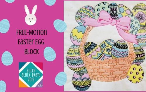 Easter Egg Quilt Block