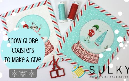 snow globe coasters