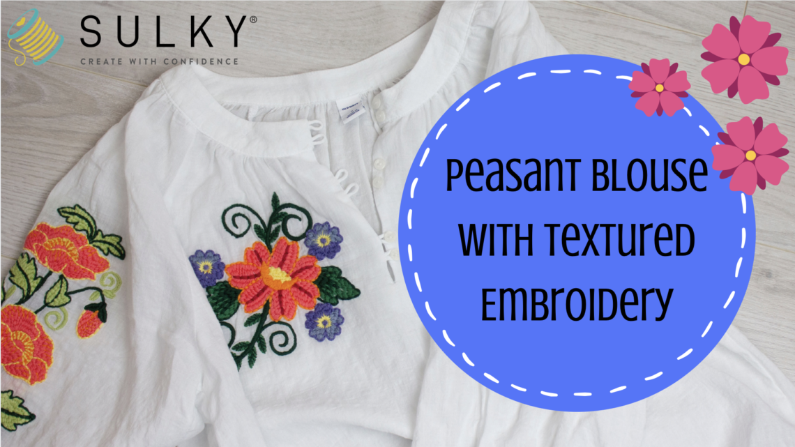 peasant blouse with embroidery