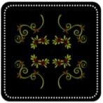 Embroidered Velvet Pillow Top