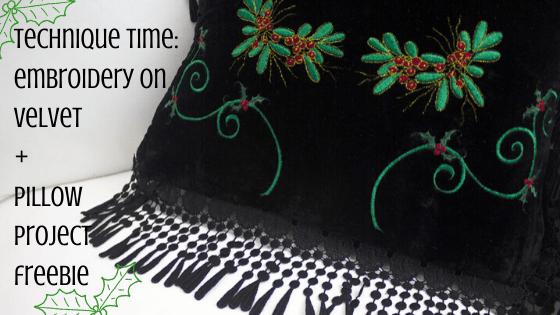 velvet pillow embroidery
