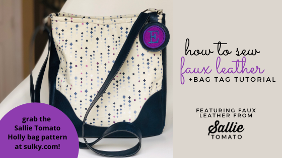 how to sew faux leather