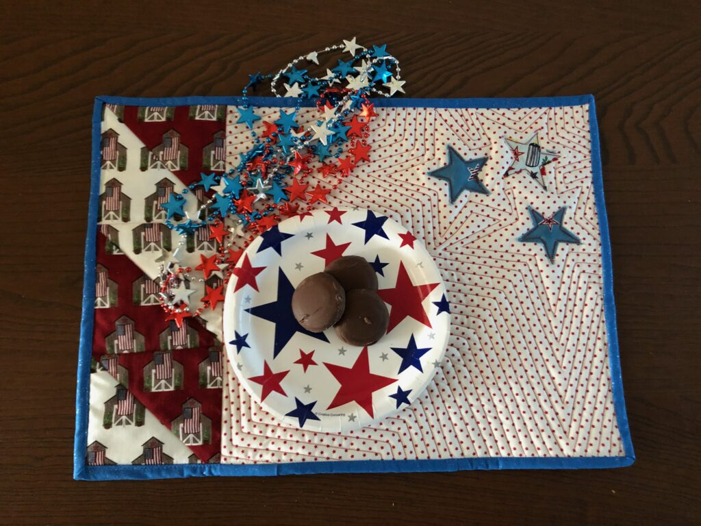 finished Team USA Place Mat